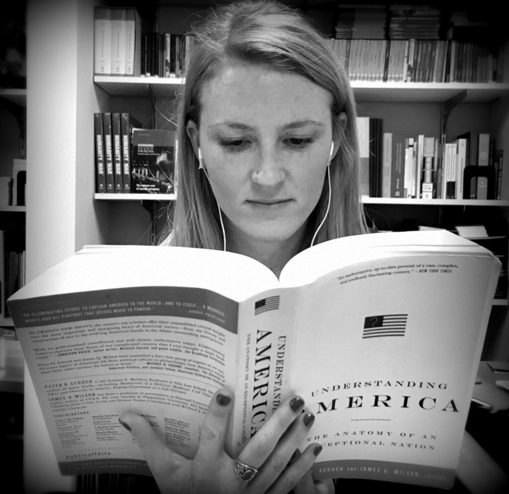 ICRC Communications Assistant Sara Owens tackles some light reading.