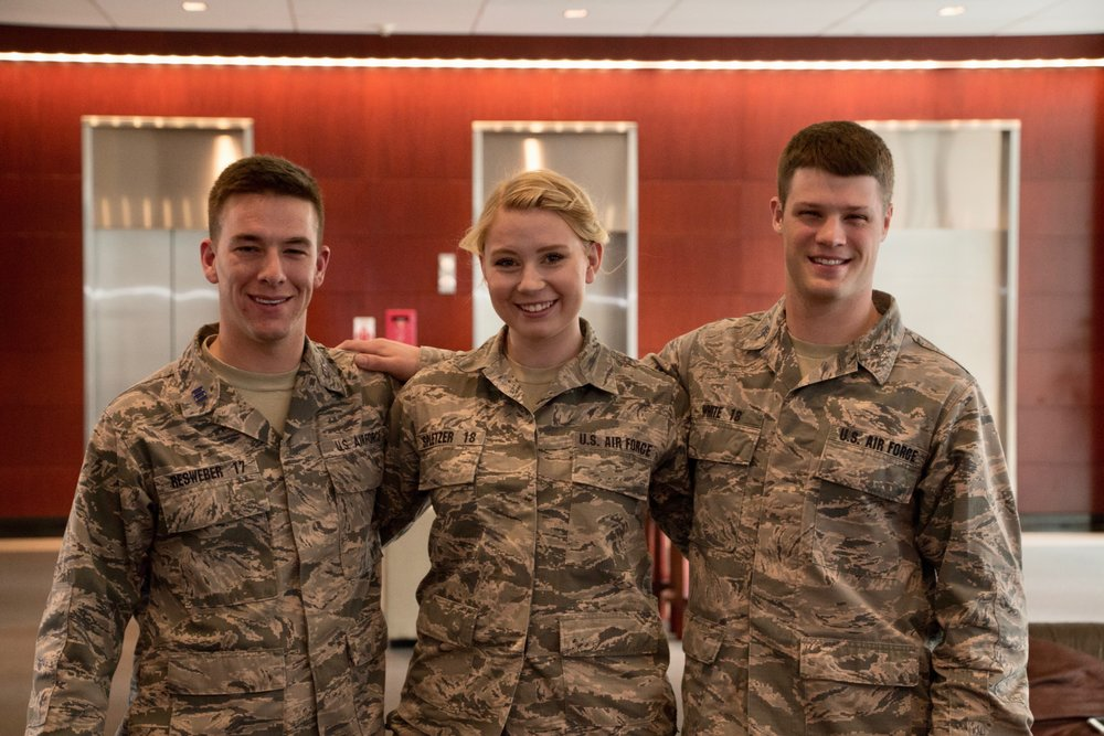 The U.S. Air Force Academy - Runners-up of the 4th Annual Clara Barton IHL Competition. Joe Gibson/American Red Cross