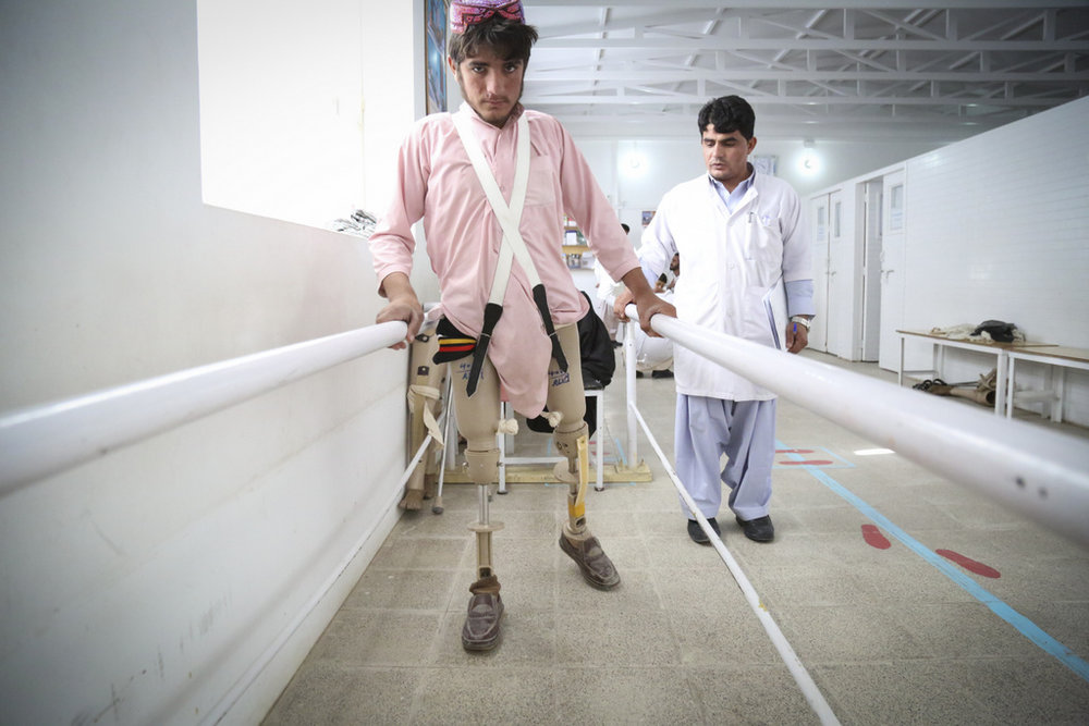 Lashkar Gah, Afghanistan/ Thomas Glass, ICRC   Alberto Cairo, head of the ICRC's orthopedic program in Afghanistan, once said there were enough landmines in Afghanistan to keep him busy for the next 60 years. The number of disabled people in Afghanistan has doubled over the past decade.