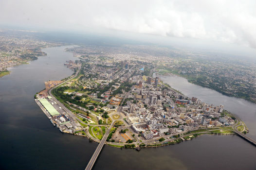 Côte d'Ivoire's commercial capital Abidjan seen from the air. The West African economy is expected to grow at a whopping 8 percent in 2017, according to IMF estimates. UN Photo/Basile Zoma