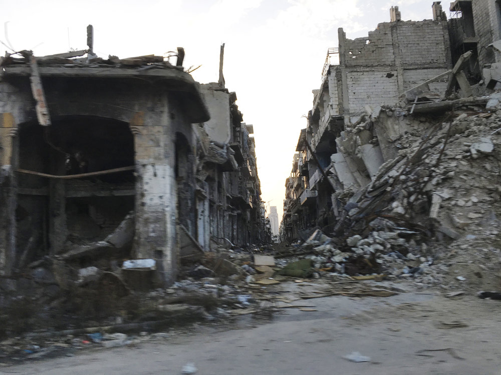 "Homs, Syria. A view of the badly damaged center of the city. ""I Saw My City Die,"" a new report released today captures the experience of civilians living in cities impacted by devastating urban wars in Iraq, Syria and YemenICRC/Pawel Krzysiek"