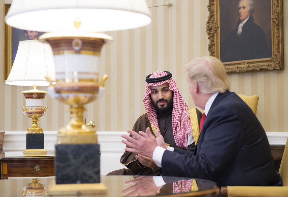 Mohammad bin Salman, of Saudi Arabia, met with Donald Trump in the White House. The New Yorker.