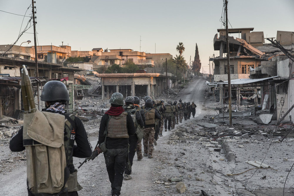 Iraqi special forces soldiers during an operation in western Mosul, Iraq, March 25, 2017. Photo Courtesy of The New York Times/Ivor Prickett