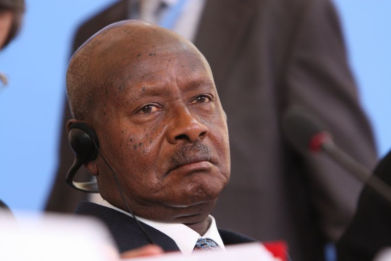 H.E. Yoweri Kaguta Museveni, President of Uganda at the Somalia Conference in London, 7 May 2013. Image courtesy of Foreign and Commonwealth Office flickr/ Creative Commons. United Kingdom, 2013.