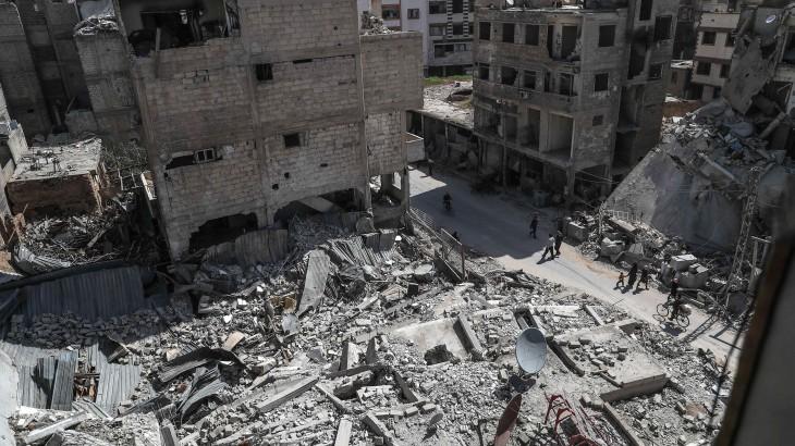 Douma, Eastern Ghouta, March 2018. © EPA / Mohammed Badra