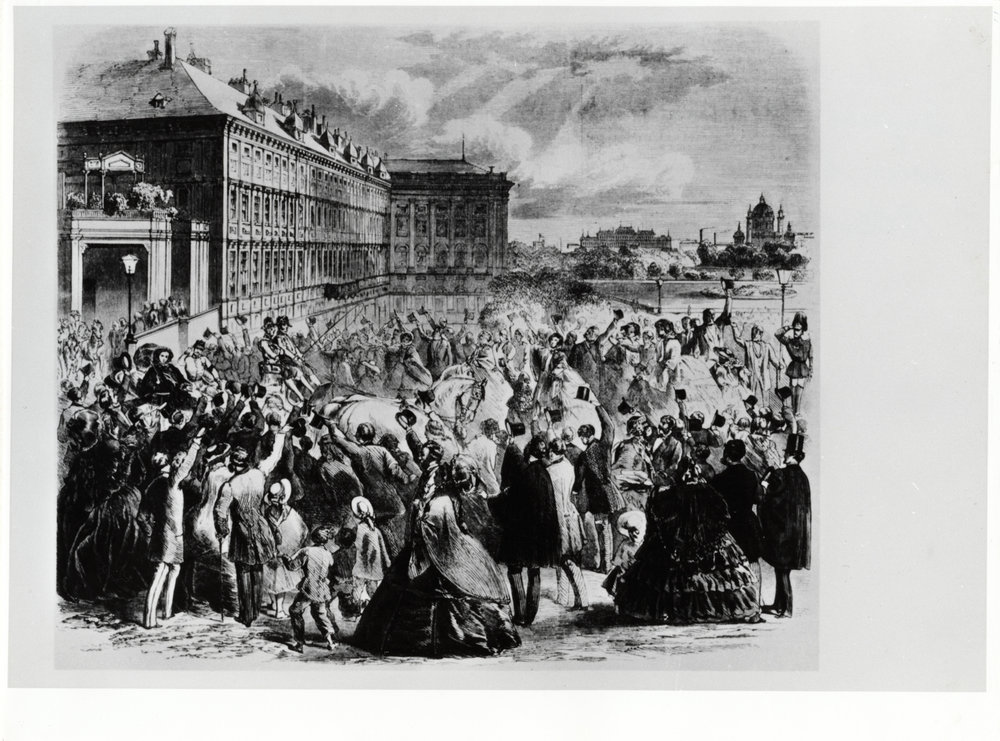 May 29, 1859. The departure of Emperor Franz Joseph I for the theater of war in Solferino.