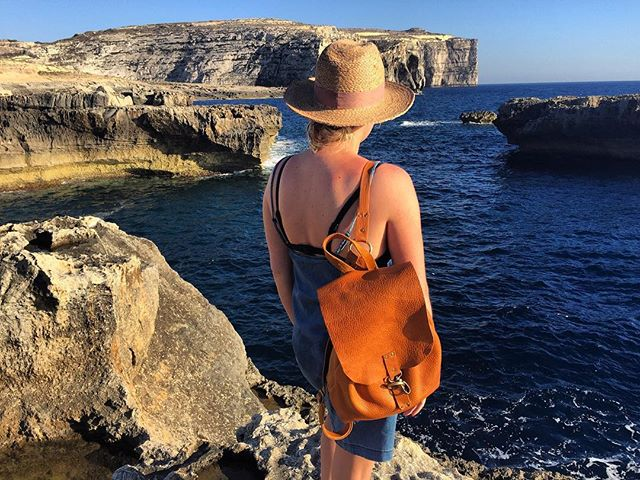 Dreaming of this magical place.. #takeusback #tbt #malta #mediterraneansea #magical #whatdreamsaremadeof #leather #backpack #custom #leathergoods #brass #raw #handmade #handcrafted #handsewn #hammered #adventure #explore #wild #wildatheart #tribesoftheheart