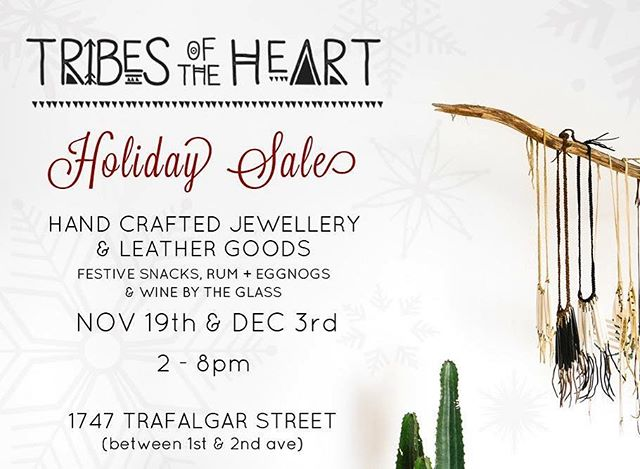 We're having our second Holiday Sale today! Come sip and shop with us anytime between 2-8, lots of great gift ideas, enough baked goods to feed a village and festive drinks! Hope to see you there xx