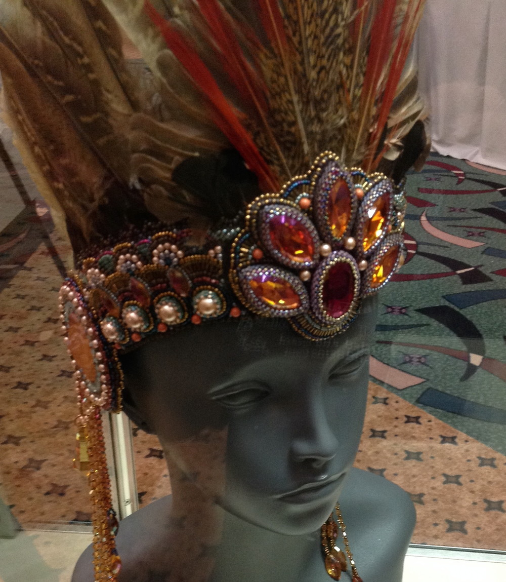 Some more head gear. This piece is by Melissa Shippee.