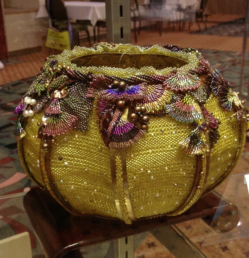 Not all entries are jewelry. This is a very well done beaded bowl by Ellen Soloman.