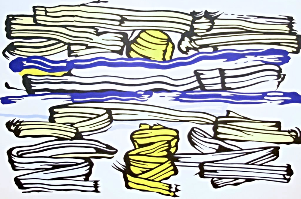 Roy Lichtenstein, 1981, Magna on canvas