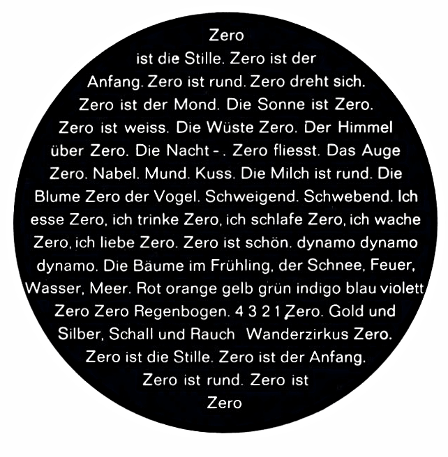 Zero Manifest, 1963