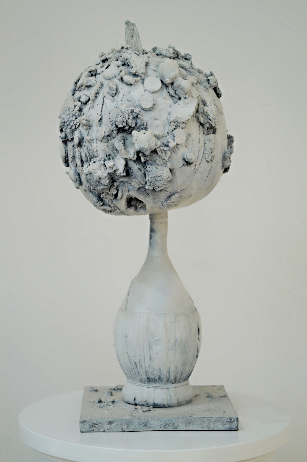 "Tal R ""SOYA AND LITCHI"", 2006 painted bronze 67 x 30 x 30 cm 