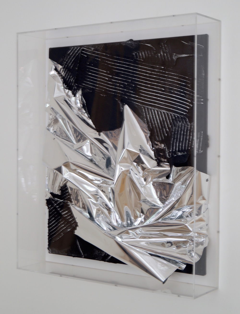 Anselm Reyle Untitled, 2007 mixed media on canvas in acrylic box 74 x 63 x 14 cm | 29 1/4 x 24 3/4 x 5 1/2 in