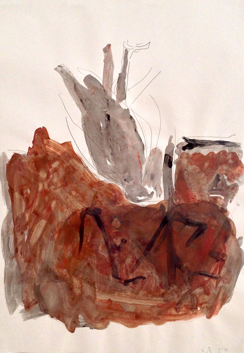 Georg Baselitz Ohne Titel (Adler), 1979 Aquarell und Bleistift auf Papier 86 x 61 cm | 33 3/4 x 24 in GB/P 10