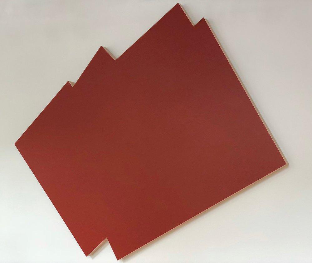 Imi Knoebel Mennigebild, 1977 acrylic on wood 250 x 260 x 10 cm | 98 1/2 x 102 1/3 x 4 in IK/O 1