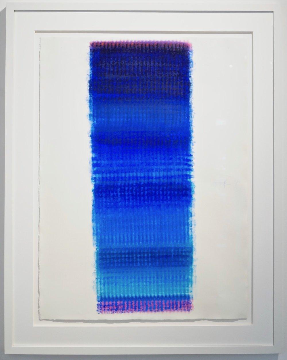 Heinz Mack Ohne Titel, 2006 crayon on handmade paper 106.5 x 78.5 cm | 42 x 31 in HEM/P 4