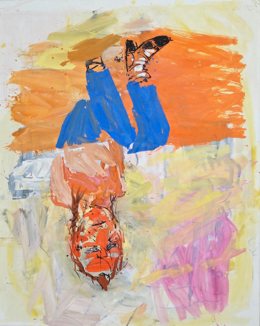 Georg Baselitz, Victory Day, 31.VII.03 oil on canvas 208 x 166 cm | 82 x 65 1/3 in