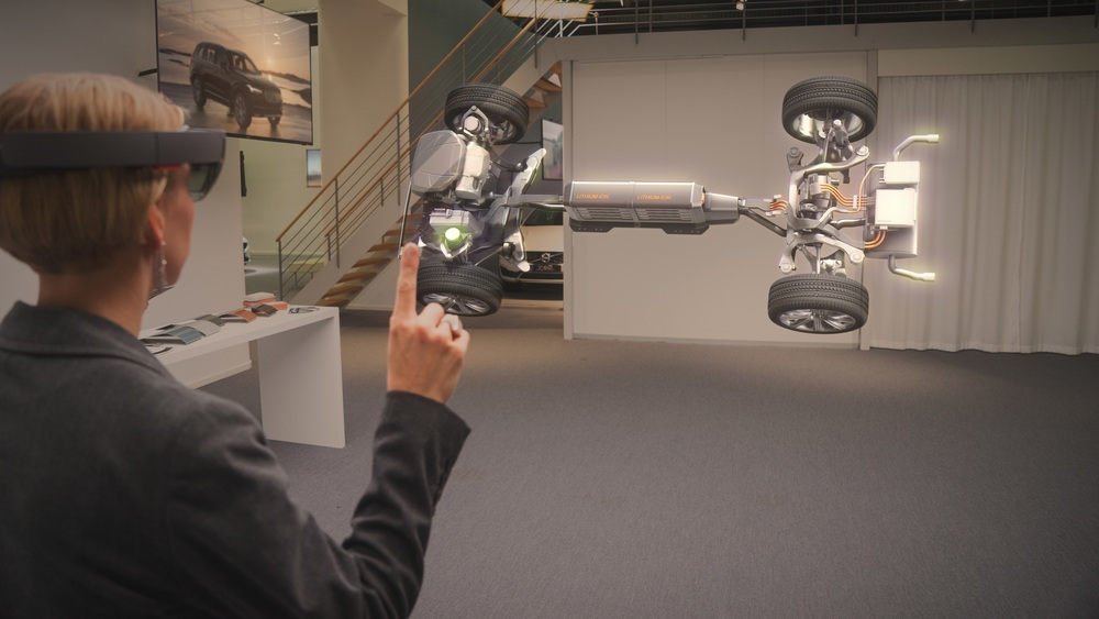 Microsoft HoloLens AR experience (source: Microsoft)