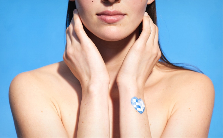 Earlier this year L'Oréal introduced a smart sticker that can be scanned by a IOS and Android app to tell how much UV exposure you have gotten while out in the sun.
