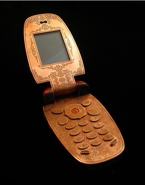Picture by Janmare. I actually had a couple of flip phones like this, and they're still cool.