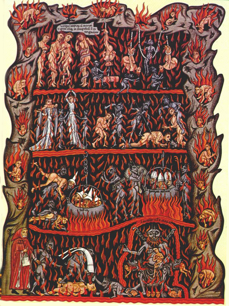 Hell, by  Herrad of Landsberg .