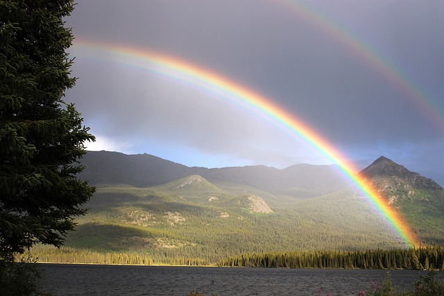 Whoa! Double rainbow! All the way! What does it mean?