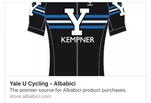 It's getting down to the wire, folks! Order your @albabici  Custom #Yale #cycling goodies before SUNDAY! ---  http://store.albabici.com/c/yale-u-cycling