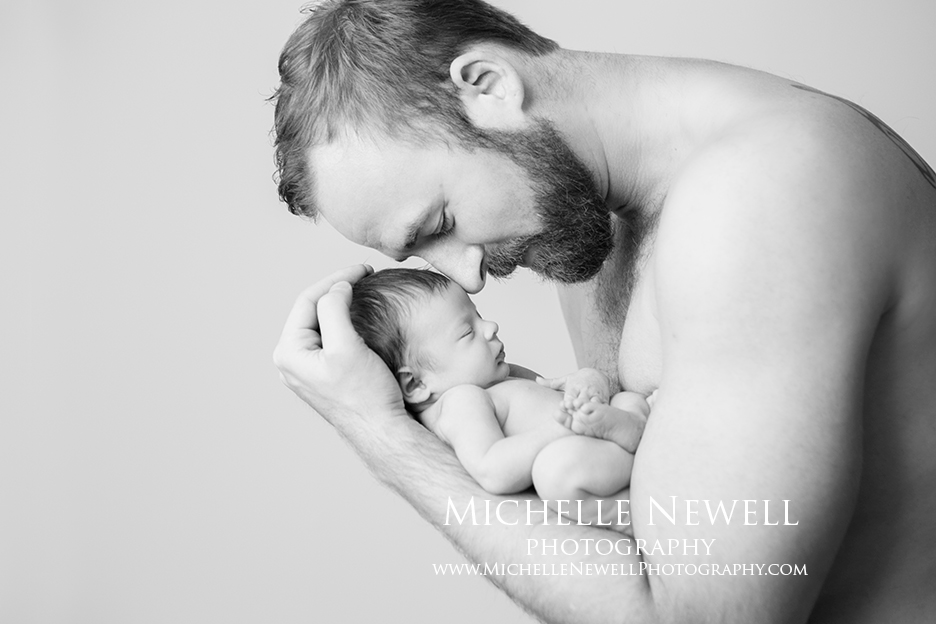 Daddy & Baby || Michelle Newell Photography