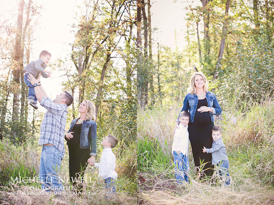 Fall Family Maternity Session by Michelle Newell Photography