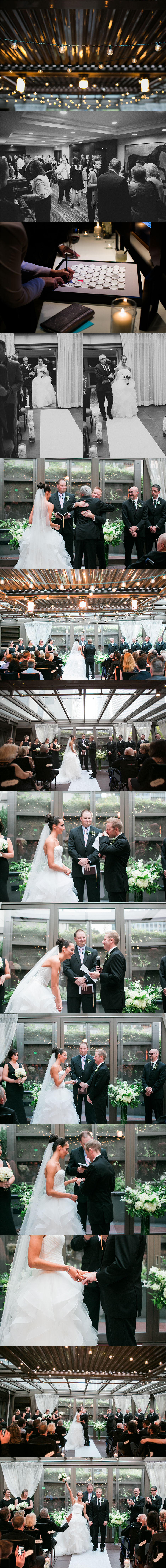 Hotel 1000 Wedding Ceremony by Michelle Newell Photography