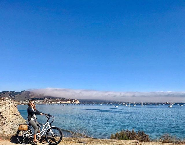 """Now that's a pier! We zipped all over Avila Bay and the Bob Jones Trail yesterday thanks to the fun electric bikes from @pedego // #Repost @lalascoop // #explore #Avila #California #highway1discoveryroute #tastetheair #pierheaven #nantucketbikebaskets #bikebasket #bike #bicycle #ebike #gobybike #bikelove #bikelife #rideyourbike #pedego #pedegoelectricbikes"