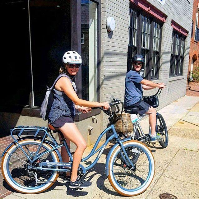 New bike day! 🚲✨🚲 // #Repost @pedegoalexandria // #nantucketbikebaskets #bikebasket #bike #bicycle #ebike #gobybike #bikelove #bikelife #rideyourbike #pedego #pedegoelectricbikes #newbikeday #alexandria #virginia