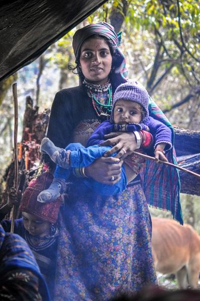 Akloo and Hasina at the Dodi Tal camp