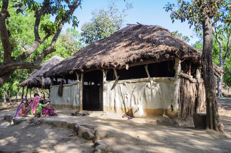 The family hut in April, 2009