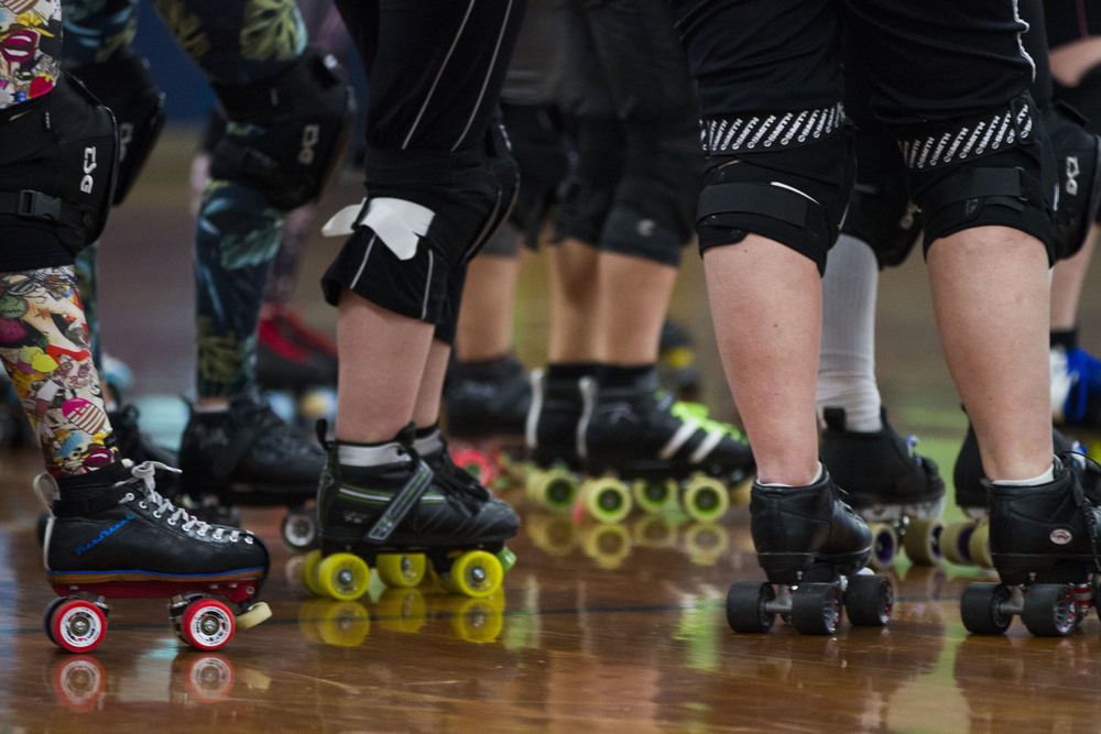 """Each Betties'skates are as unique as the skaters are themselves. """"It's hard having wheels strapped to your feet and doing these really hard things,"""" says Samantha """"Baconator"""" Poteet of the derby maneuvers. Roller derby is a high action, fast-paced sport that takes a toll on the skates and the skaters. The roller skates are not the only ones who take a beating out on the rink."""