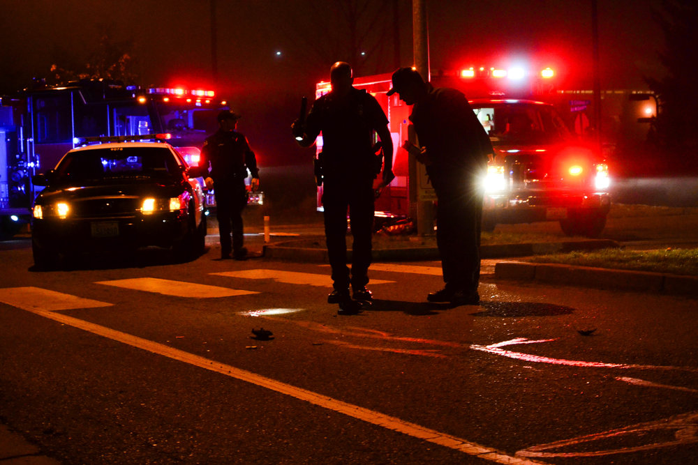 Western Student victim of Hit and Run - A 21-year-old male Western Washington University student was struck by a vehicle while crossing the street at the Bill McDonald Parkway and South College Way intersection at about 10 p.m. Thursday, Jan. 16, 2014. (The Western Front)
