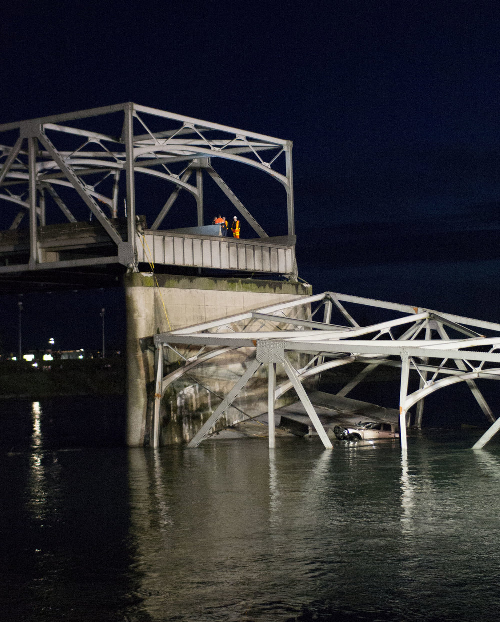 I-5 Skagit Bridge Collapse - Two cars plunged into Washington's Skagit River following the collapse of the Interstate 5 bridge on May 23, 2013. (The Western Front)