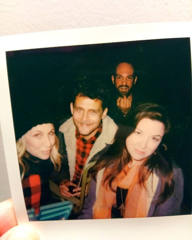 Thanks to @sofroyo for a beautiful bonfire evening and @codyjordan for this Polaroid💥 Helluva night