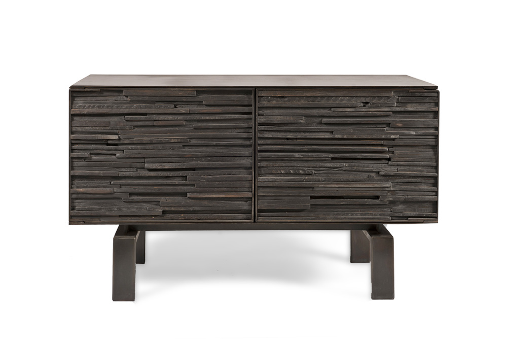 Burnt wood cabinet