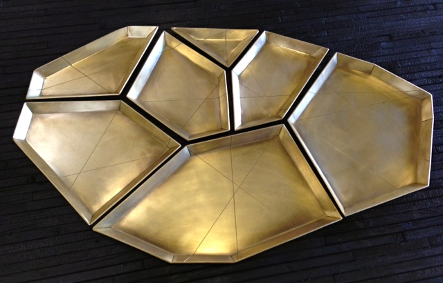 Brass tray set