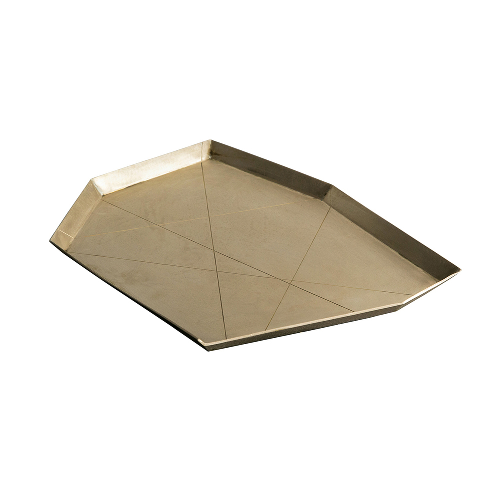 GEOMETRIC BRASS TRAY