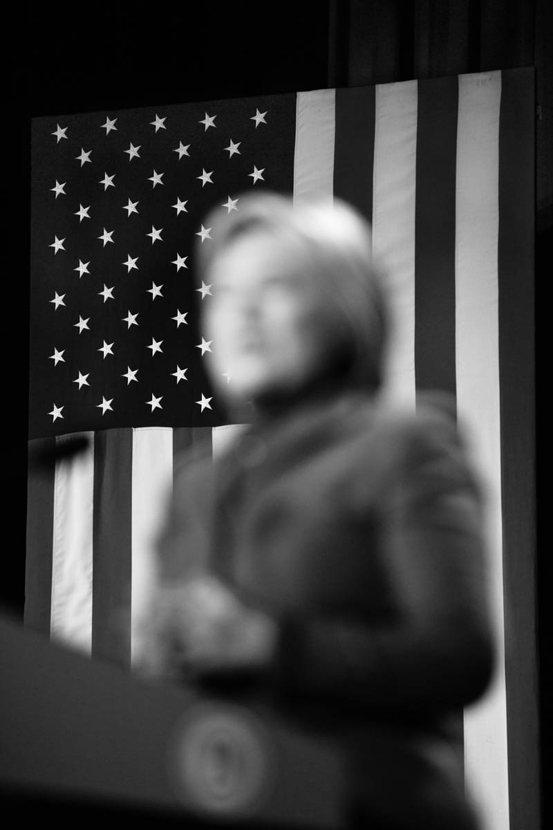 05 Feb 2016 - Manchester, New Hampshire - Democratic Party presidential candidate Hillary Clinton speaks at the 2016 McIntyre-Shaheen 100 Club Celebration in the Verizon Arena.