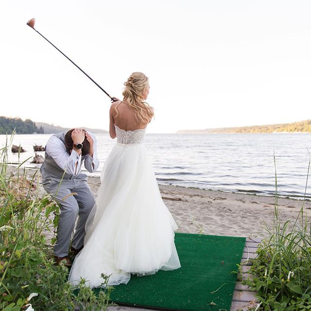 FORE!!! @ashleyjensenn @theedgewaterhouse  #seattleweddingphotographer #love #beautiful #instagood #photooftheday #bride #weddingday #weddinginspiration #weddings #weddingphotography #weddingideas #instawedding #weddingphotographer #amazing #weddingdress #weddingplanning #weddingstyle #weddingphoto #groom #inspiration #instadaily #wedding #weddingplanner #weddingparty #seattle #weddingvenue #portlandweddingphotographer #olympiaweddingphotographer #tacomaweddingphotographer #bellevueweddingphotographer