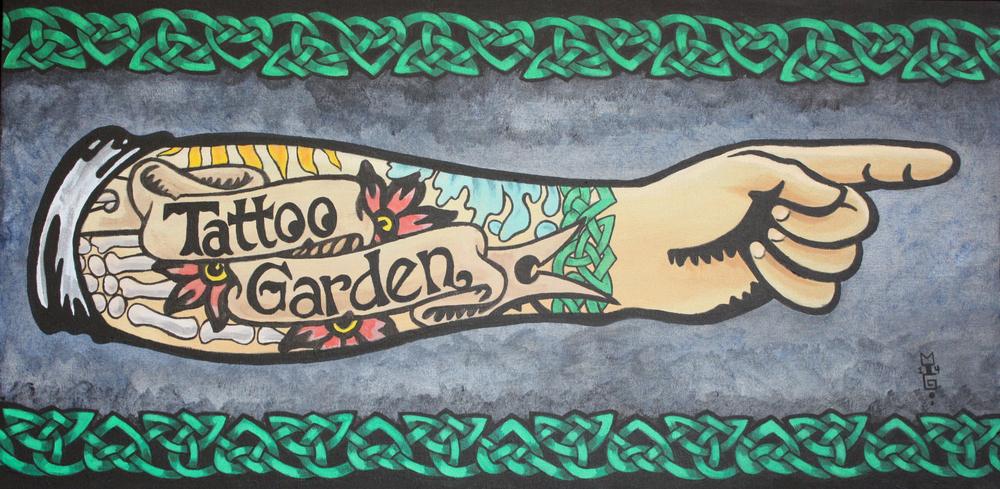 Tattoo Garden direction sign
