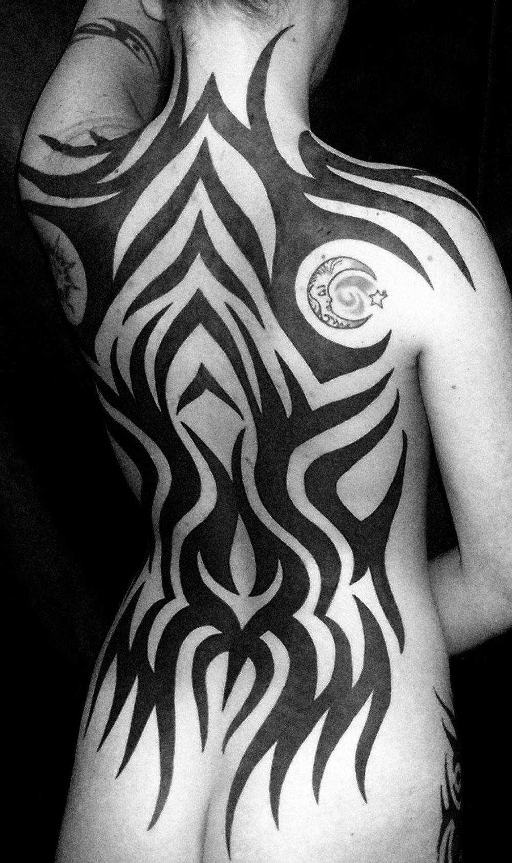 Tattoo garden tribal back izmirmasajfo