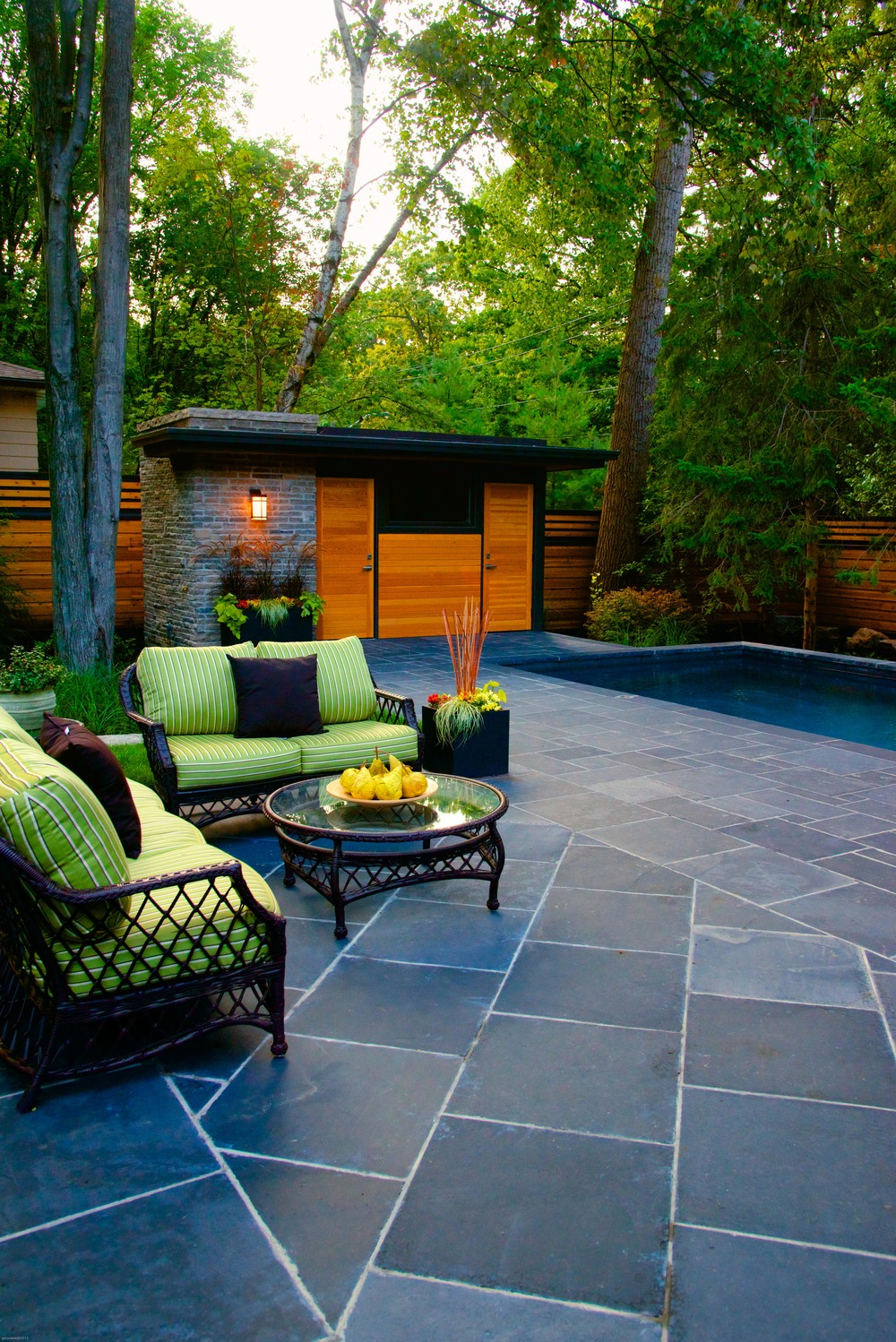 Natural Stone Pool Patio