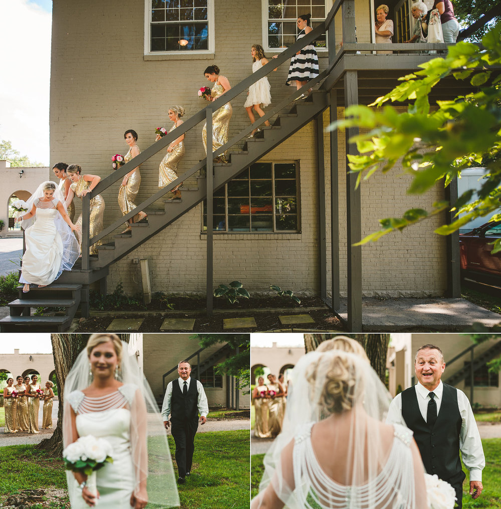 100 Mile House Ohio Wedding Bride Father