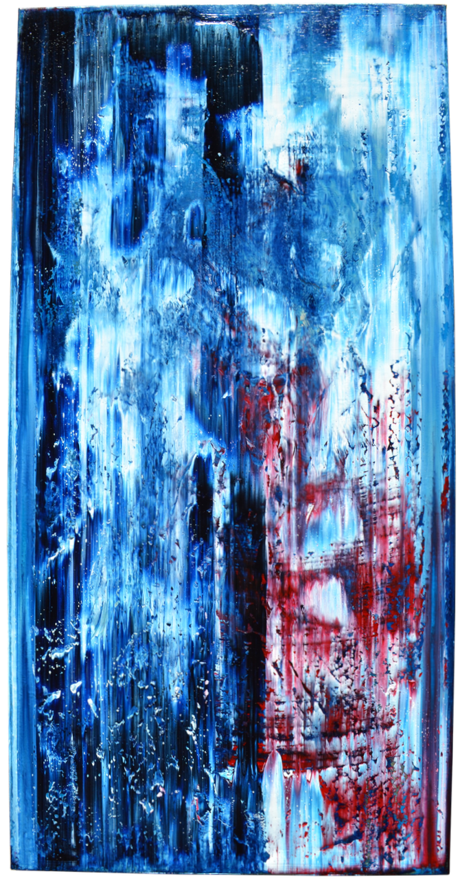 "BLUE WILLOW • (24"" x 48"")"