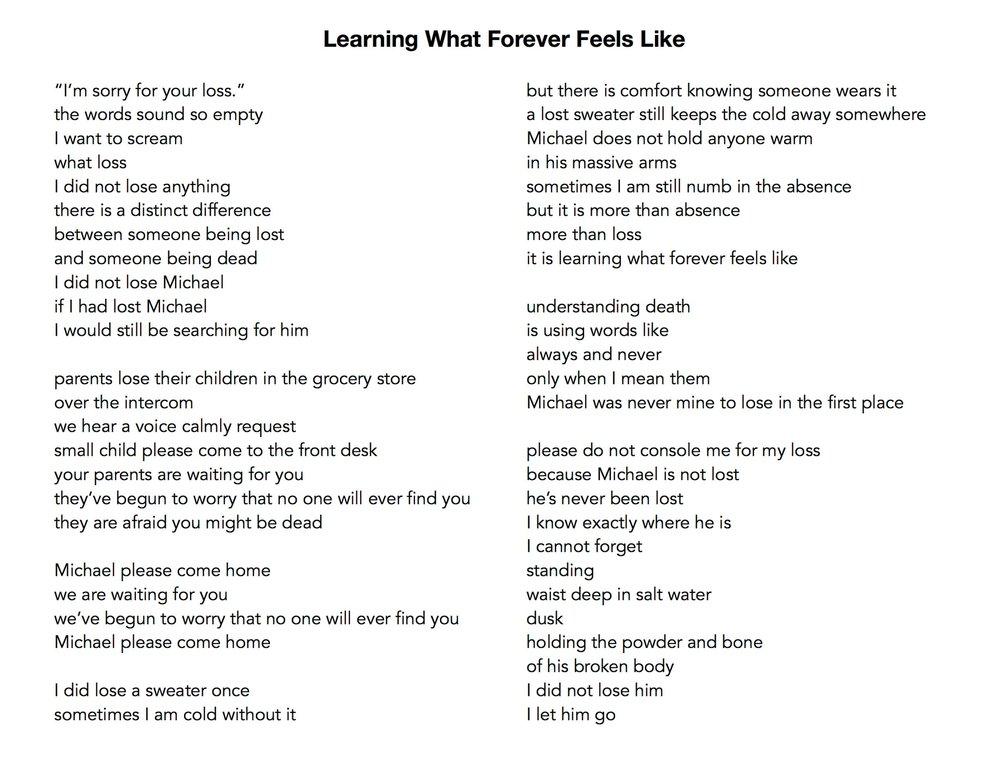 Learning What Forever Feels LIke.JPG